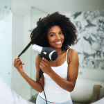 blow dryer with comb for black hair