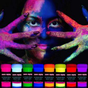 Neon nights 8 x UV Body Paint Set